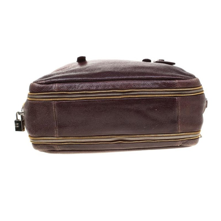Prada Pink/Eggplant Ombre Cervo Leather Bauletto Bag For Sale 1