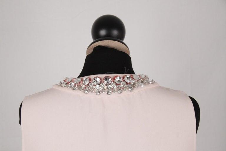 Prada Pink Embellished Sleeveless Tunic and Pants Set IT Size 40 For Sale 3