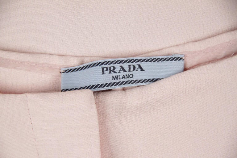 Prada Pink Embellished Sleeveless Tunic and Pants Set IT Size 40 For Sale 4