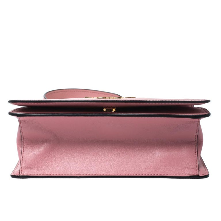 Women's Prada Pink Leather Pattina Shoulder Bag For Sale