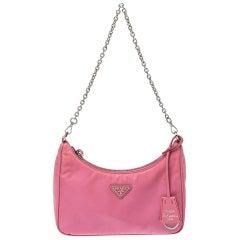 Prada Pink Nylon Re-Edition 2005 Shoulder Bag