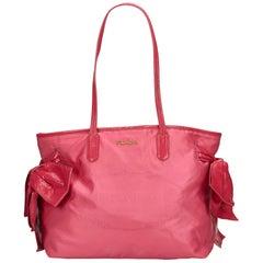 Prada Pink Nylon Tote Bag
