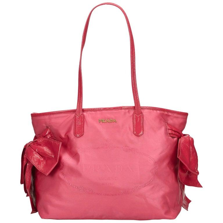 9f32763c3b Prada Pink Nylon Tote Bag