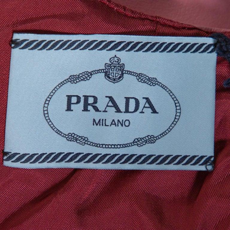 Women's Prada Pink Poster Girl Print Coated Cotton Sleeveless Dress S For Sale