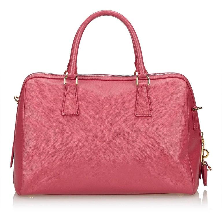 Prada Pink Saffiano Leather Bag In Good Condition For Orlando Fl