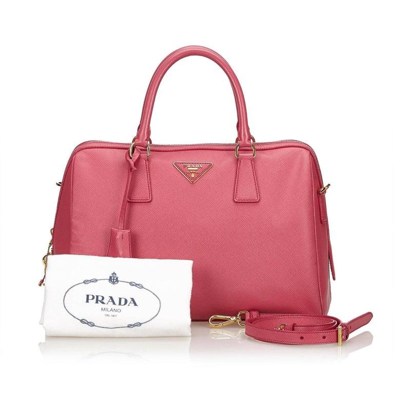 3c36098c331d Prada Pink Saffiano Leather Bag For Sale 5