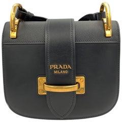 003a7826f0c0 Prada Pionniere Pattina Black Calf Saffiano Leather Crossbody Bag 1BD074  2BB0