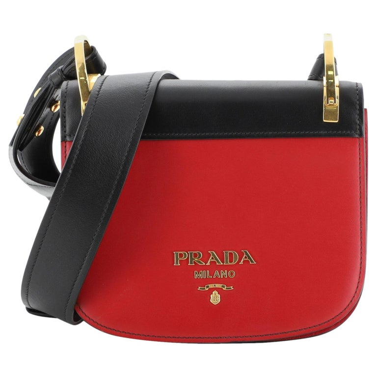 Prada Pionniere Saddle Crossbody Bag City Calfskin Small For Sale