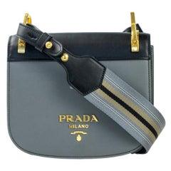 PRADA pionniere Shoulder bag in Blue Leather