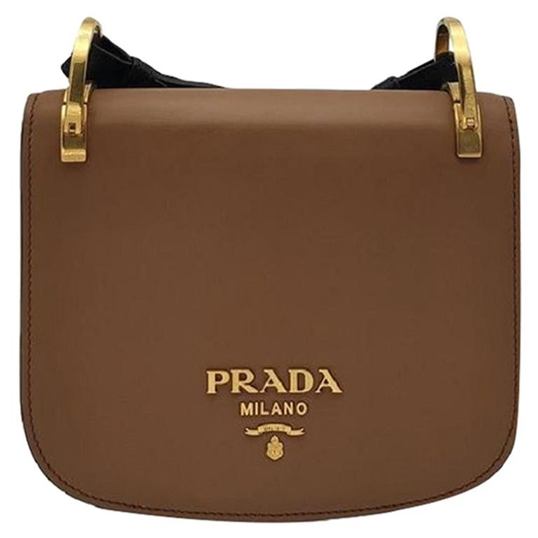 PRADA Pionniere Shoulder bag in Brown Leather