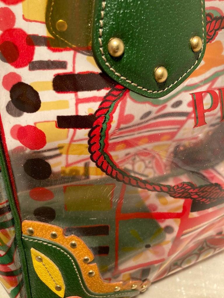 Women's Prada Plex Stampato Tote  For Sale