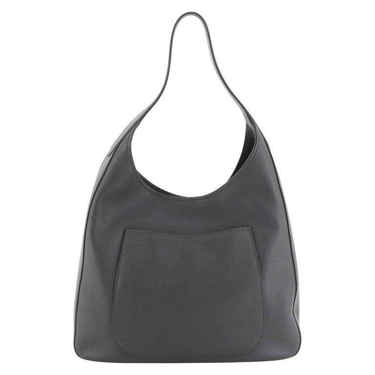 Prada Pocket Hobo Cervo Leather Medium For Sale