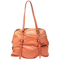 Prada Pomelo Leather New Look Satchel
