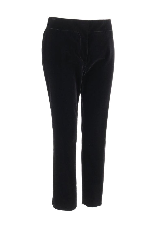 "PRADA Pre-Fall 2009 Black Velvet Stretch Cigarette Trouser Pants - New With Tags  Brand / Manufacturer: Prada Collection: Pre-Fall 2009 Designer: Miuccia Prada Manufacturer Style Name: ""Velluto Stretch""   Style: Cigarette trouser pants Color(s):"
