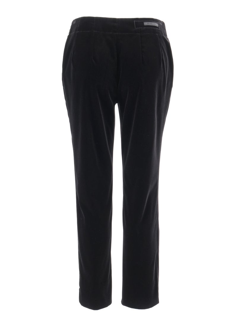 Women's PRADA Pre-Fall 2009 Black Velvet Stretch Cigarette Trouser Pants - New With Tags For Sale