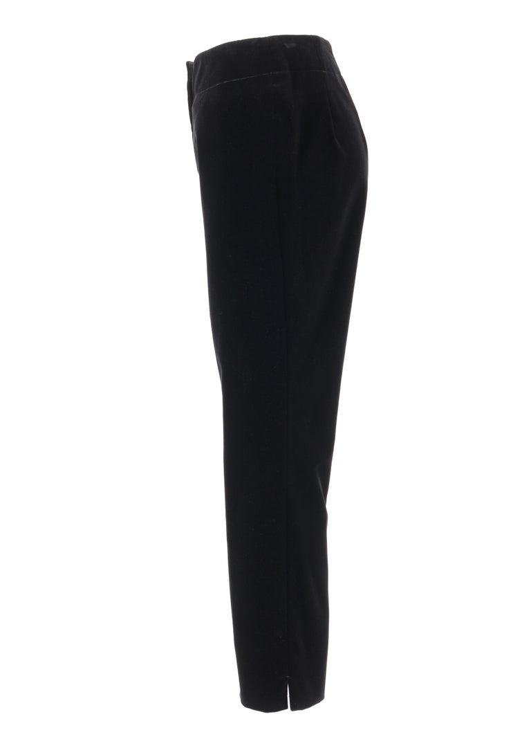 PRADA Pre-Fall 2009 Black Velvet Stretch Cigarette Trouser Pants - New With Tags For Sale 1