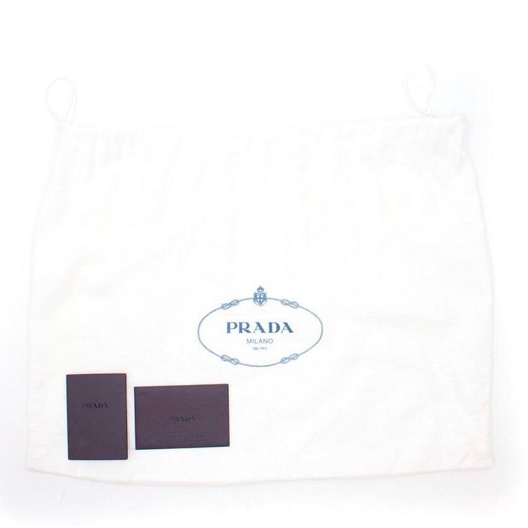 Prada Printed Top Handle Bag For Sale 5