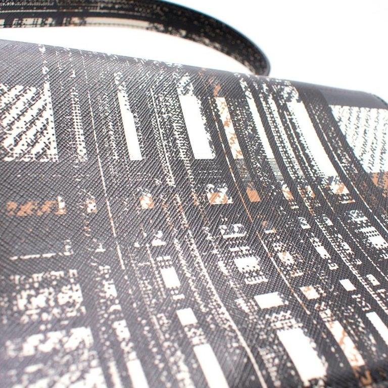 Prada Printed Top Handle Bag For Sale 1