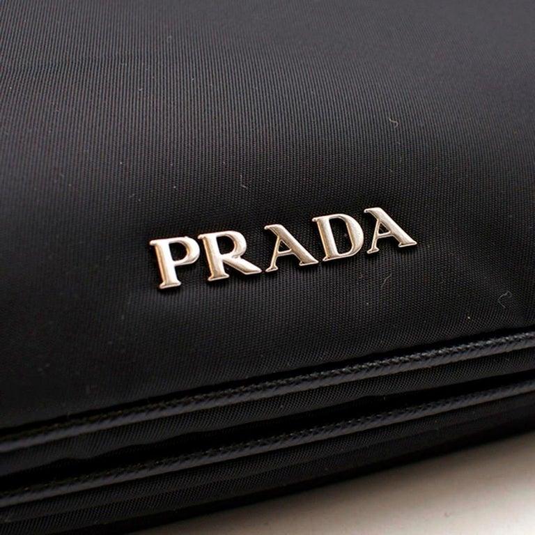 Prada Printed Top Handle Bag For Sale 2