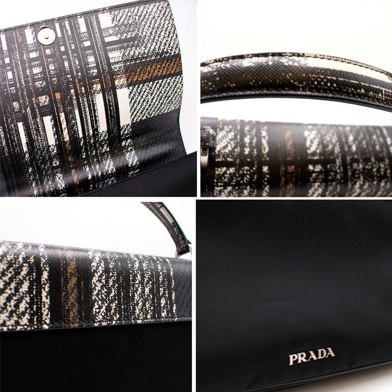 Prada Printed Top Handle Bag For Sale 3