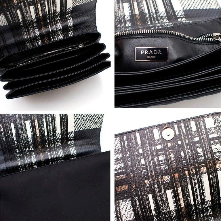 Prada Printed Top Handle Bag For Sale 4