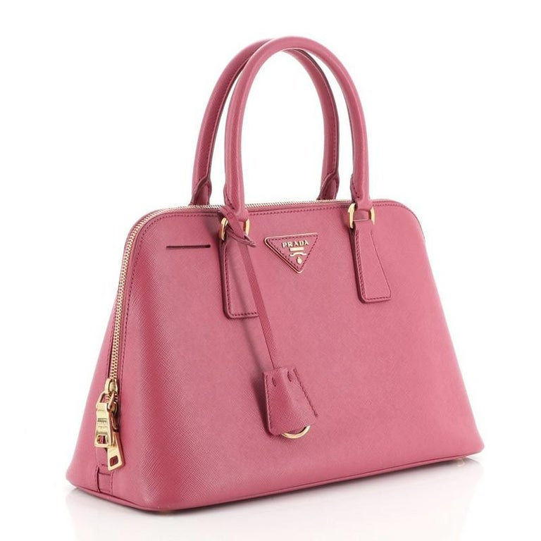 Pink Prada Promenade Bag Saffiano Leather Medium For Sale