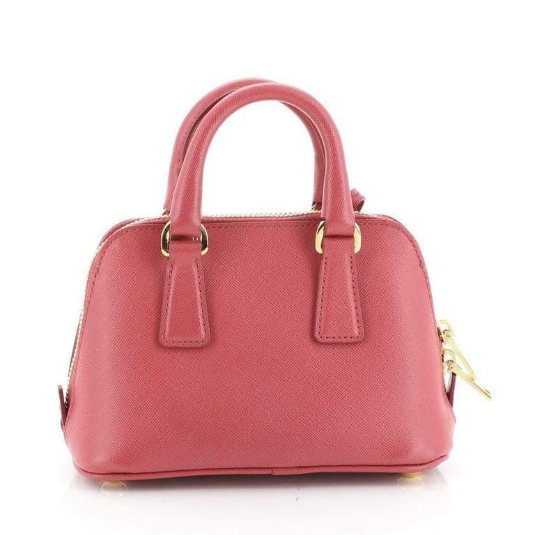 Prada Promenade Bag Saffiano Leather Mini  In Good Condition In New York, NY