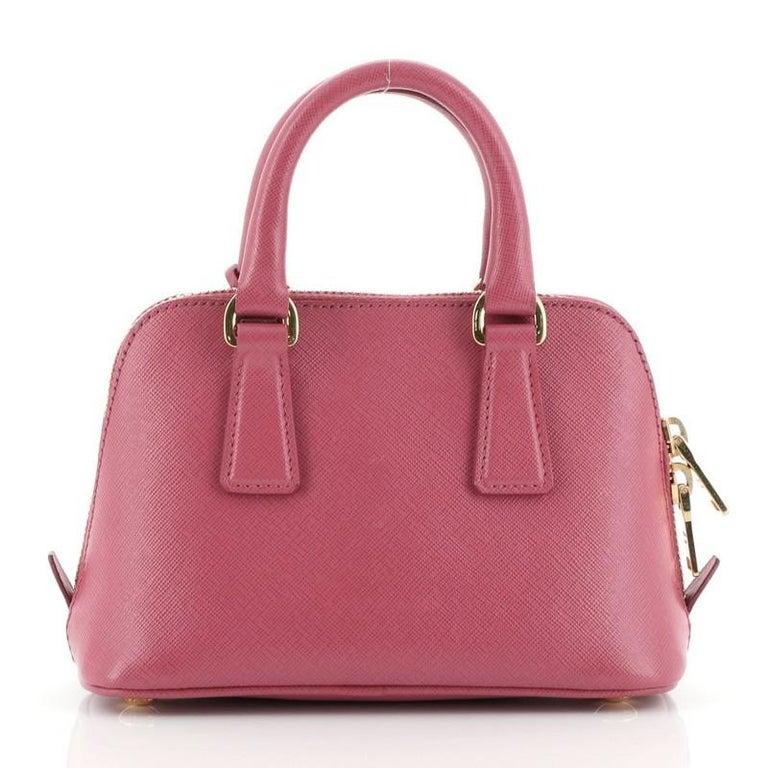 Prada Promenade Bag Saffiano Leather Mini In Good Condition For Sale In New York, NY