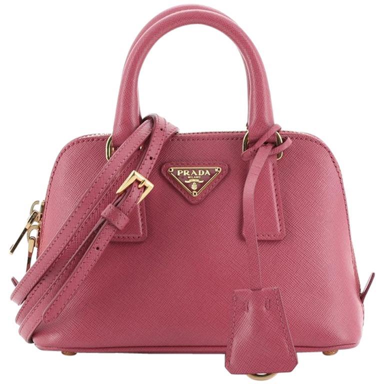 Prada Promenade Bag Saffiano Leather Mini For Sale