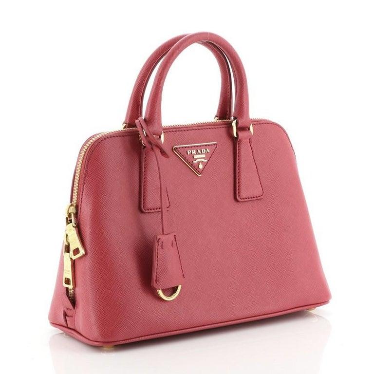 Prada Promenade Bag Saffiano Leather Small In Good Condition For Sale In New York, NY