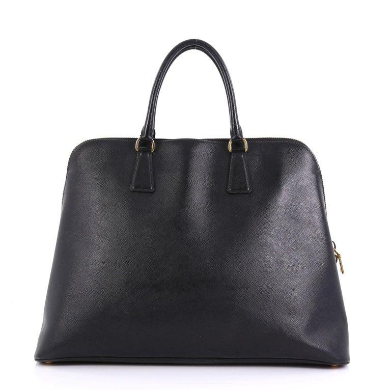 Black Prada Promenade Bag Saffiano Leather XL