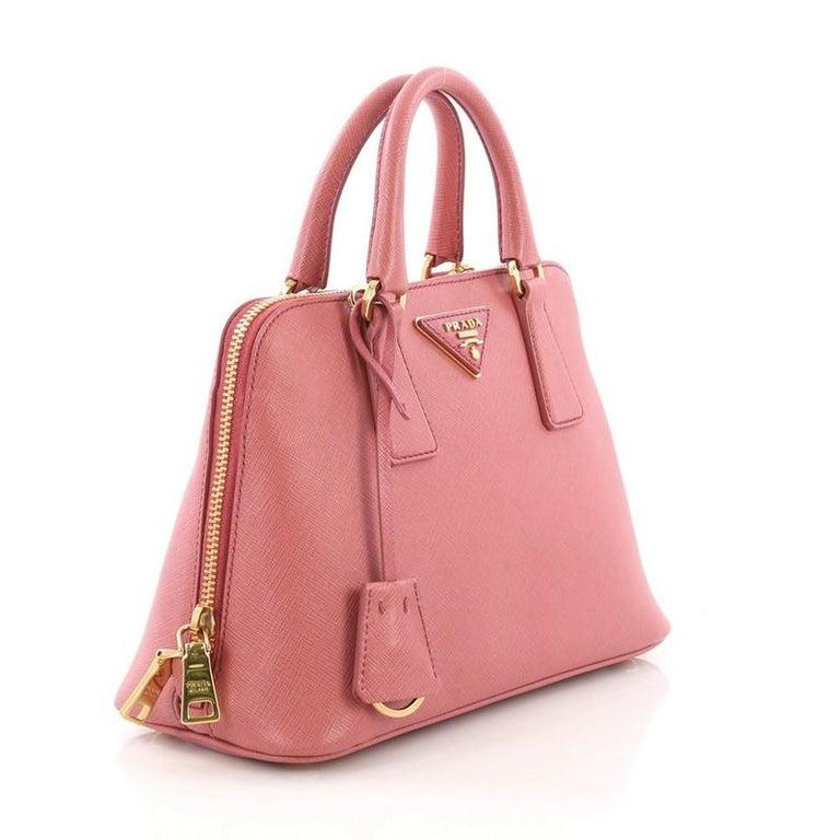 9e8d51337f07 Pink Prada Promenade Handbag Saffiano Leather Small For Sale
