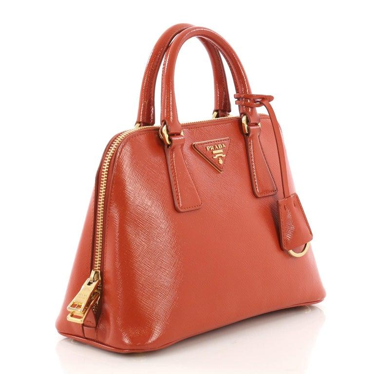 3ef5d4bf7265 Prada Promenade Handbag Vernice Saffiano Leather Small For Sale at ...