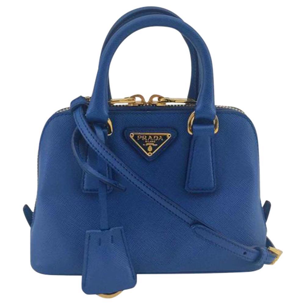 PRADA Promenade Shoulder bag in Blue Leather