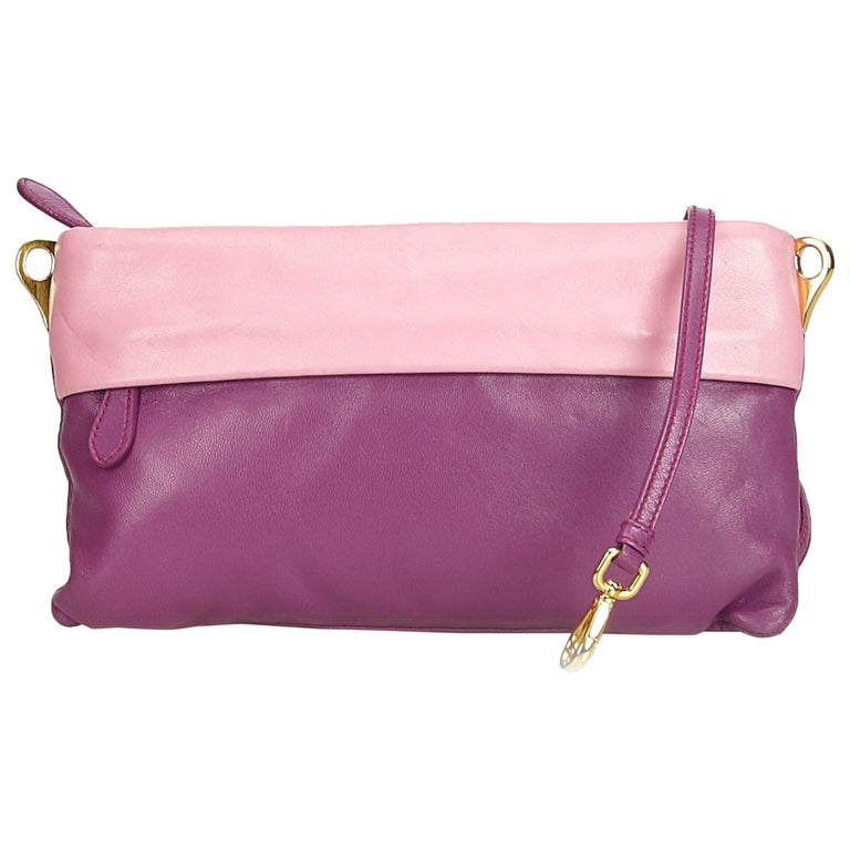 81c753b74f Prada Purple Leather Crossbody Bag For Sale at 1stdibs