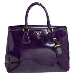 Prada Purple Patent Leather Parabole Tote