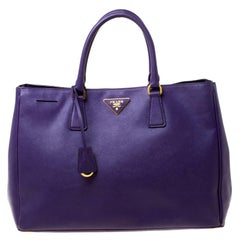 Prada Purple Saffiano Leather Medium Lux Tote
