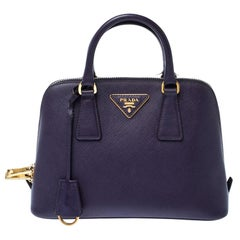 Prada Purple Saffiano Lux Leather Small Promenade Crossbody Bag