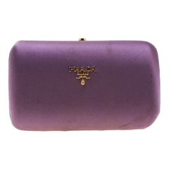 Prada Purple Satin Clutch