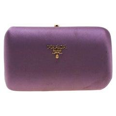 Prada Purple Satin Clutch