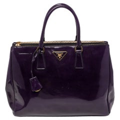 Prada Purple Spazzolato Leather Large Galleria Tote