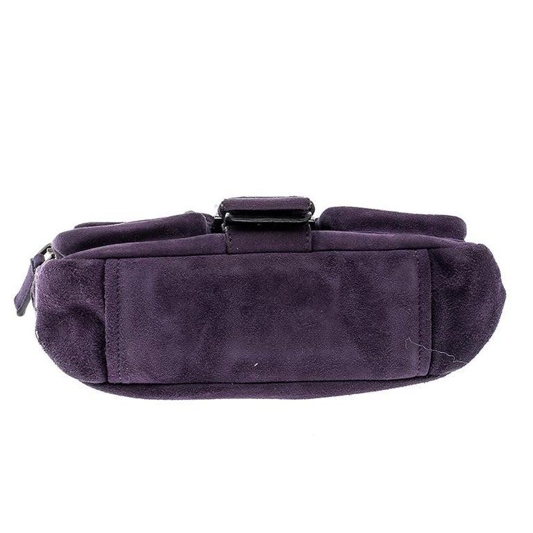 f0bb6e7eaff4 Prada Purple Suede Chain Shoulder Bag For Sale at 1stdibs