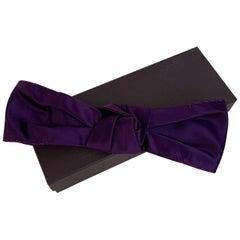 Prada Purple Violet Silk Elastic Twist Front Headband