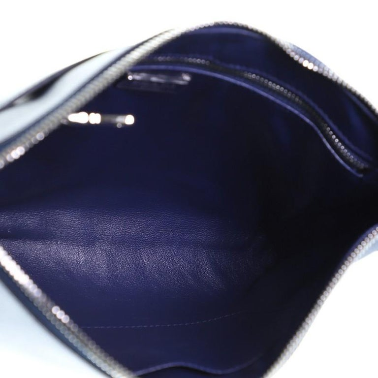 Prada Push Lock Zip Pouch Saffiano Leather For Sale 2