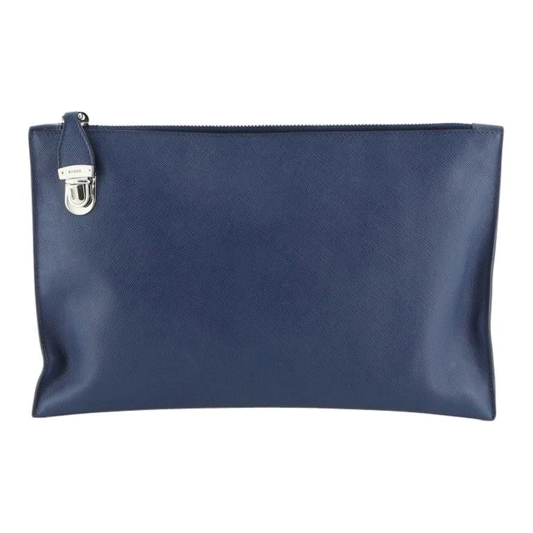 Prada Push Lock Zip Pouch Saffiano Leather For Sale
