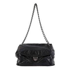 Prada Pushlock Chain Flap Shoulder Bag Nappa Antique Medium