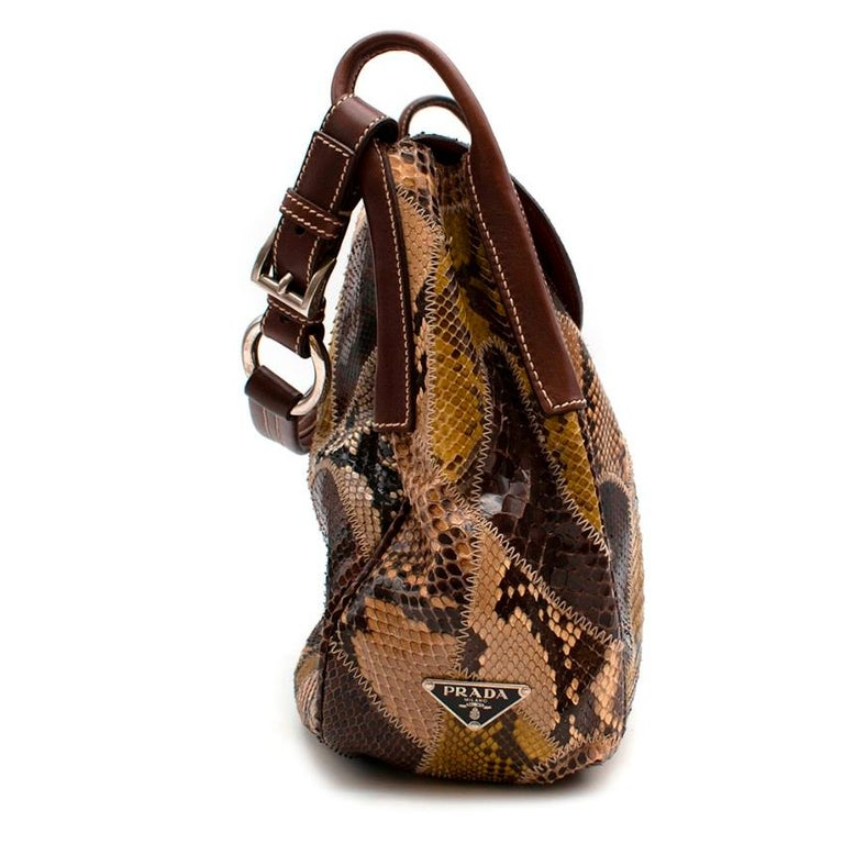 Prada Python Patchwork Shoulder Bag In New Condition For Sale In London, GB