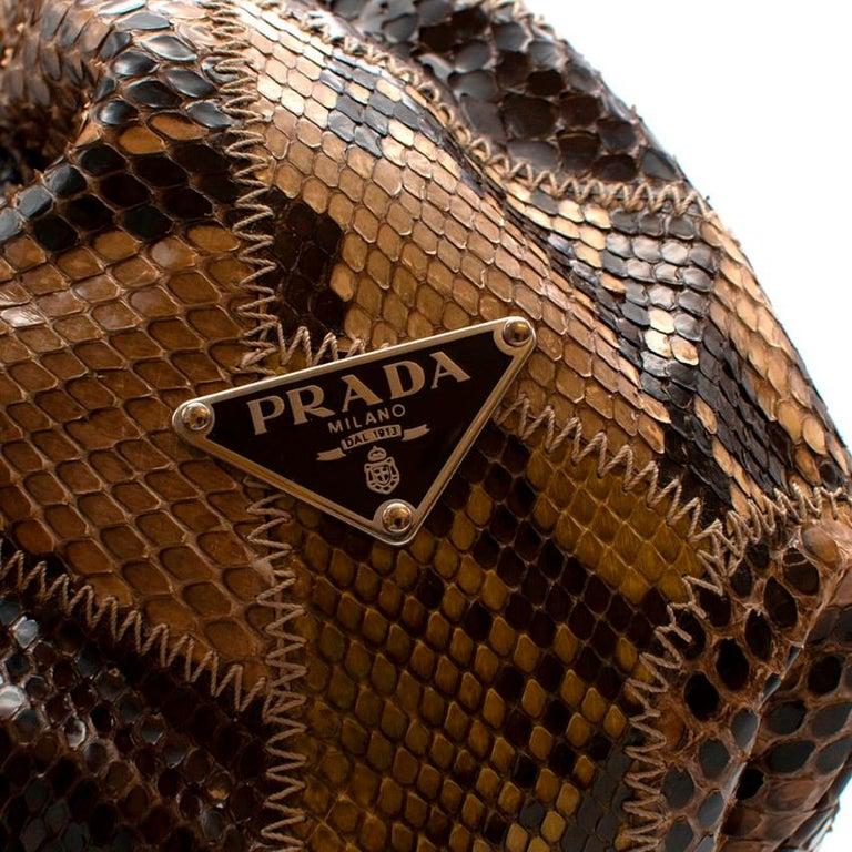 Women's Prada Python Patchwork Shoulder Bag For Sale