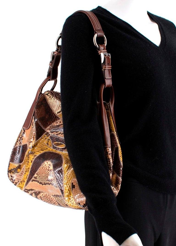 Prada Python Patchwork Shoulder Bag For Sale 2