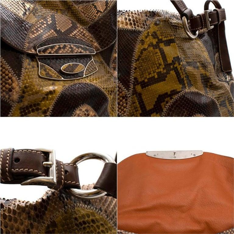 Prada Python Patchwork Shoulder Bag For Sale 3